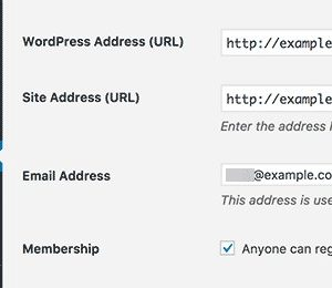 atualizar link wordpress