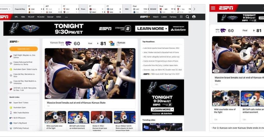 ESPN minimiza conteúdo-min
